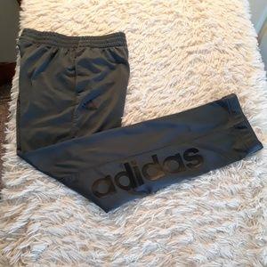 Adidas athletic pants boys M 10 12 grey sweatpants